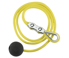 04.73.7106 Steute  Yellow wire rope w/ball+Duplex clamp 1m Accessories For Pull-wire switch (Poly.)